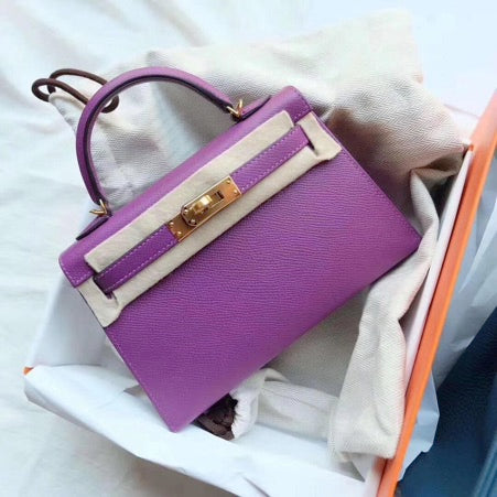 Hermes Kelly Mini 20cm  |  Epsom Leather with Permabrass Hardware