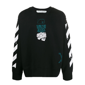 Off-white Dripping Arrows Crew Neck Sweatshirt In Black