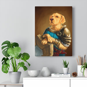 Golden Guardian - Your Noble Golden Retriever Portrait Canvas - Snoop Gold