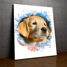Load image into Gallery viewer, Breezy - Floral Personalized Portrait - Snoop Gold