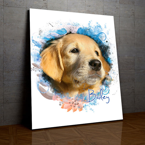 Breezy - Floral Personalized Portrait - Snoop Gold