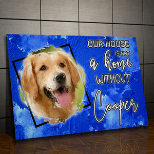 Definition of Home - Personalized Canvas - Snoop Gold
