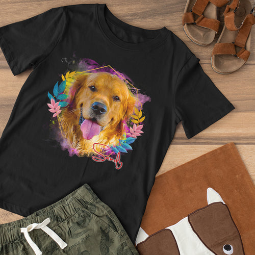 Cheeky - Floral Personalized Tee Shirt - Snoop Gold