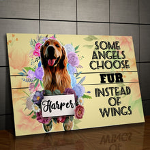 Load image into Gallery viewer, Some Angels Choose Fur Personalized Canvas - Snoop Gold