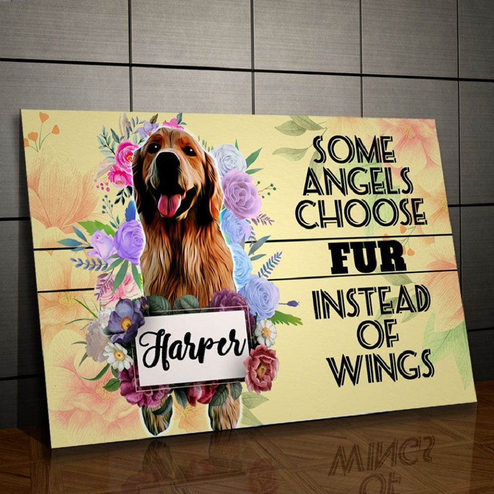 Some Angels Choose Fur Personalized Canvas - Snoop Gold