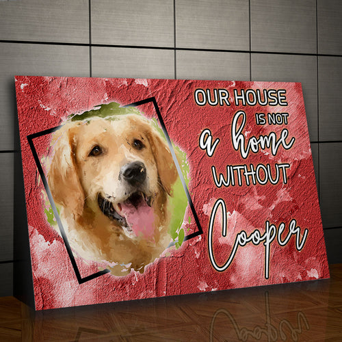 Definition of Home - Personalized Portrait - Snoop Gold