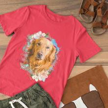 Load image into Gallery viewer, Springtime - Floral Personalized Tee Shirt - Snoop Gold