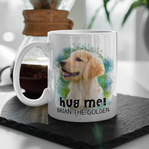 Hug Me! - Personalized 11 oz. Mug - Snoop Gold