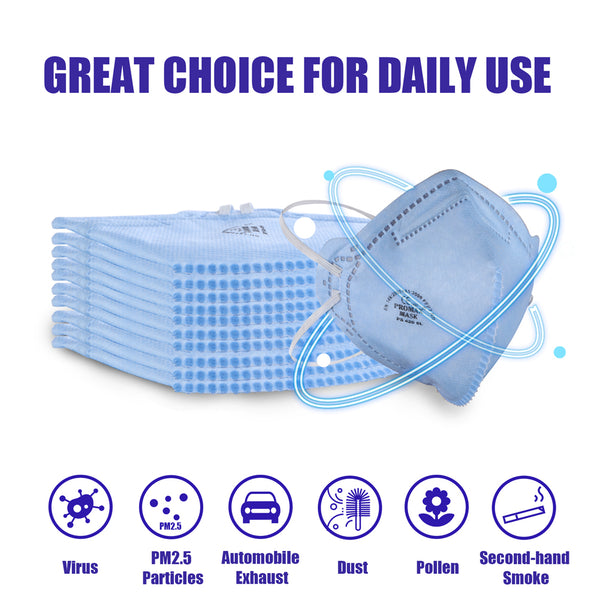 N95 Safety Mask with Earloops, pm2.5 Muti-Layer Filter Face Mask
