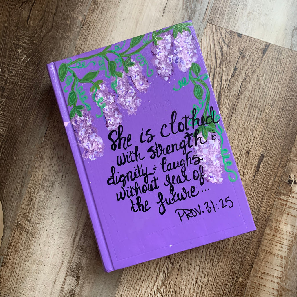 Painted Bible Purple