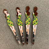Girly tweezers (green dress girl)