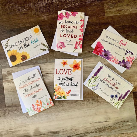 Christian Note Cards/ set of 12