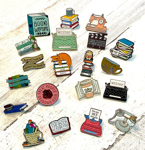 Drink Tea & Read Books Enamel Pin