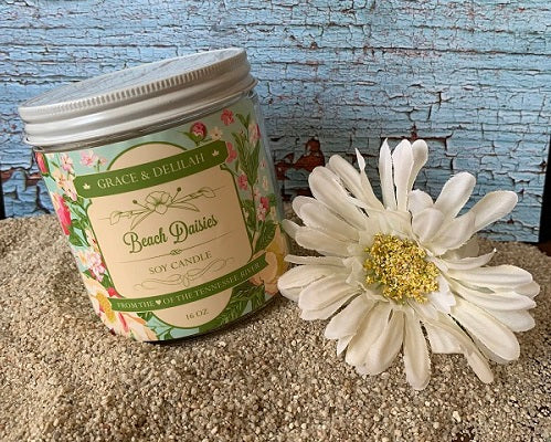 Beach Daisies Soy Candle
