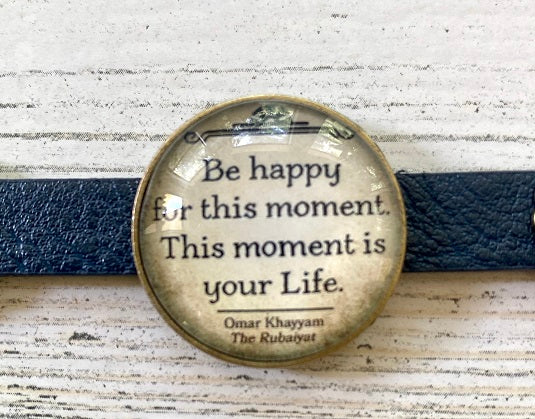 Leatherette style Bracelet (Be Happy)