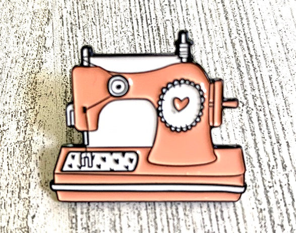 Pink Sewing Machine Enamel Pin