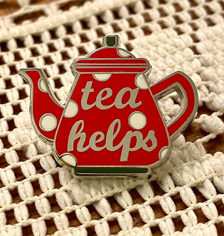 Tea Helps Teapot Enamel Pin