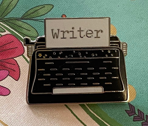 Writer Typewriter Enamel pin