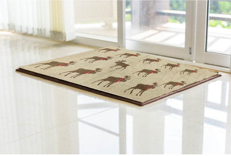 Red-Scarefed Reindeer Anti-Skid Mat by Limone Fresco