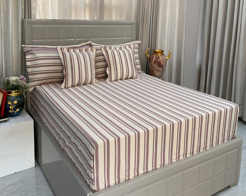 Maroon Melange 300 Thread Count Bed Set by Limone Fresco