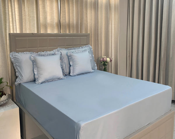 Light Blue 325 Thread Count Bed Set by Limone Fresco