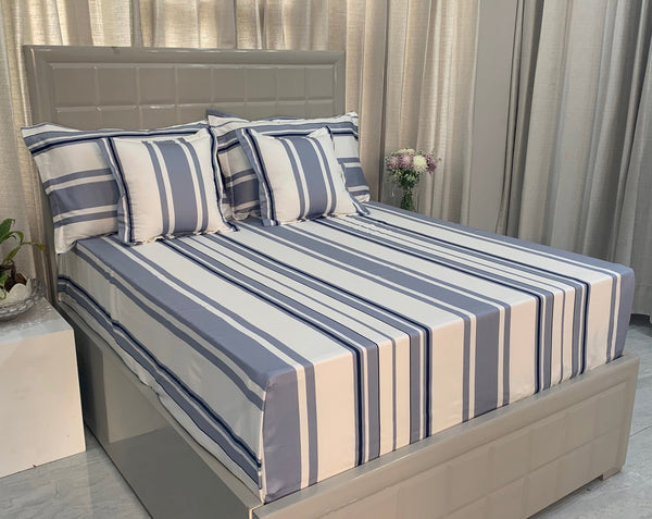 Hampton Stripes 300 Thread Count Bed Set by Limone Fresco