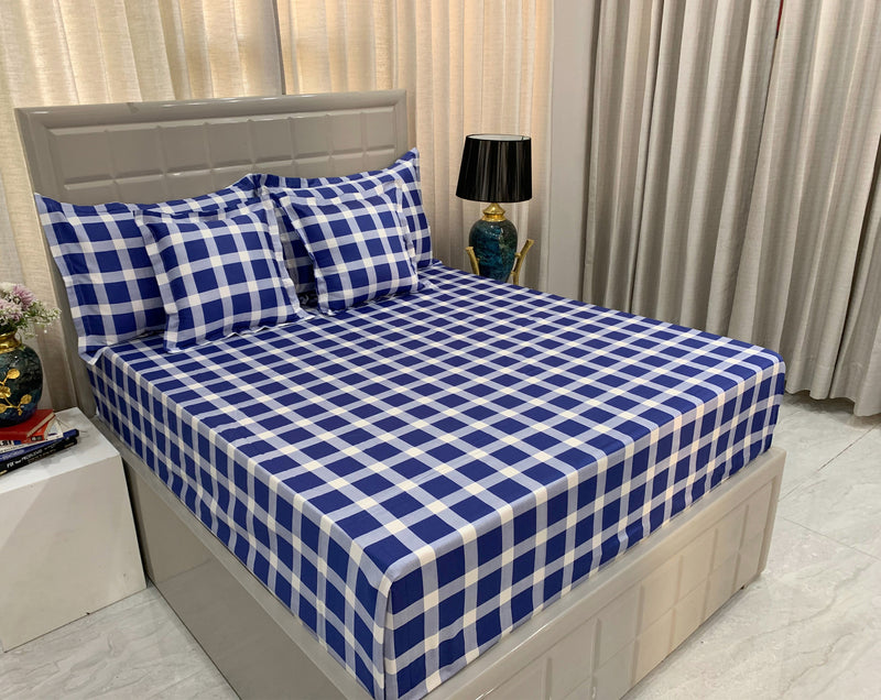 Check 300 Thread Count Bed Set by Limone Fresco