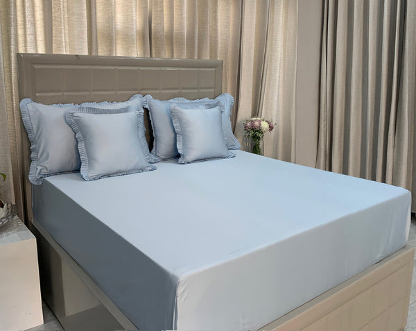 Rich Blue 325 Thread Count Bed Set by Limone Fresco.