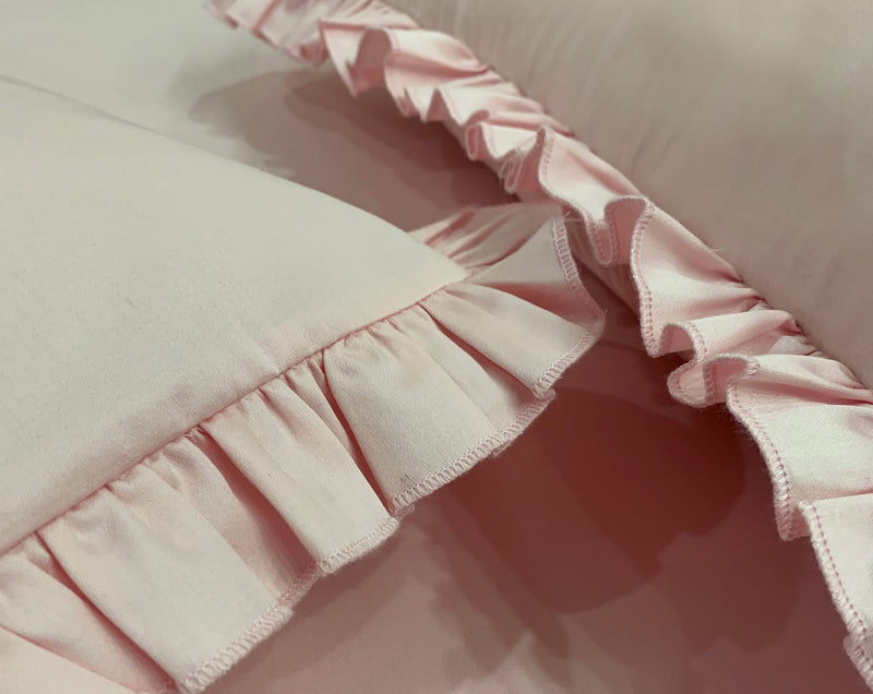 Carnation Pink 400 Thread Count Bed Set by Limone Fresco.