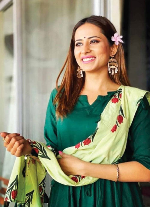 Sargun Mehta opting for an all-green minimal look from Libas