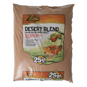 11763 Zilla 25qt Desert Blend Ground English Walnut Shells
