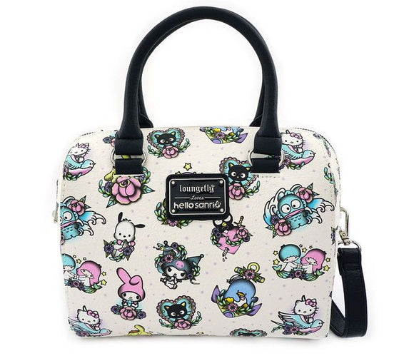 Loungefly Hello Kitty Characters Tattoo Duffle Purse Bag