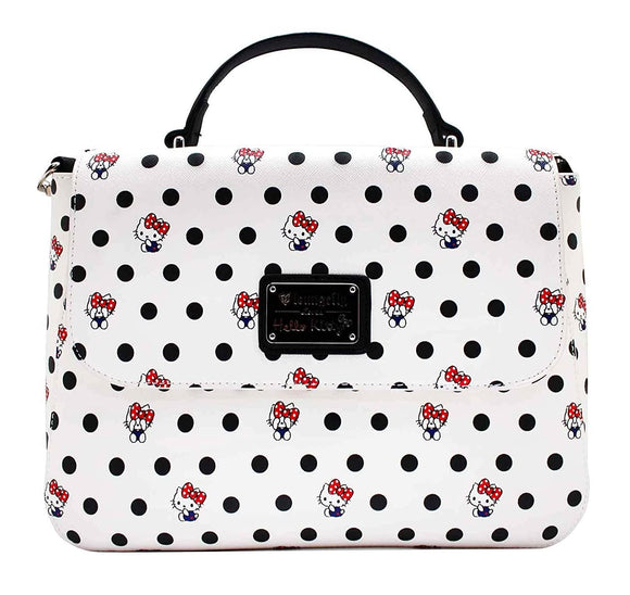Loungefly Hello Kitty Polka Dot PU Crossbody Bag