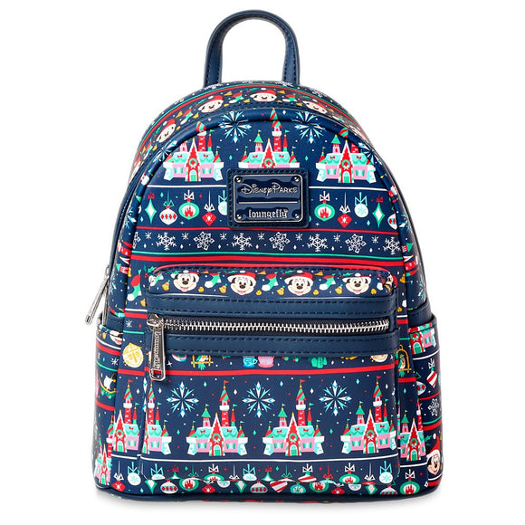 Loungefly Disney Parks Mickey Holiday Mini Backpack