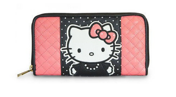 Loungefly Hello Kitty Pink Black Dot Wallet