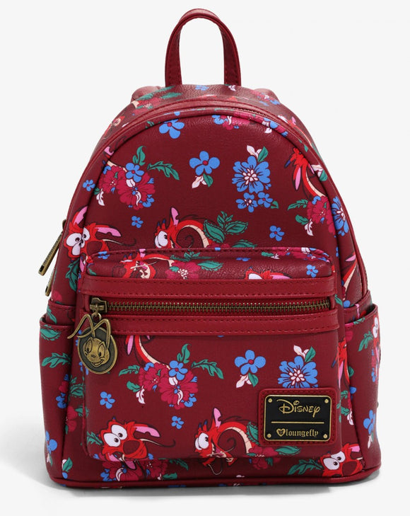 Loungefly Disney Mulan Mushu Floral Backpack