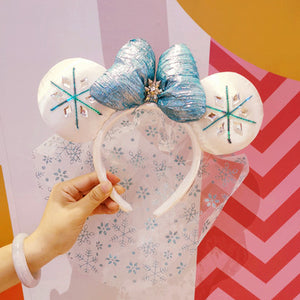 Disney Minnie Frozen Ears Headband with Bow