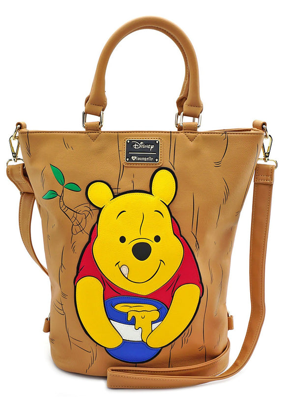 Loungefly Winnie The Pooh Convertible Tote Backpack