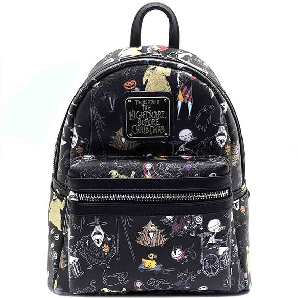 Loungefly Nightmare Before Christmas All Over Print Backpack