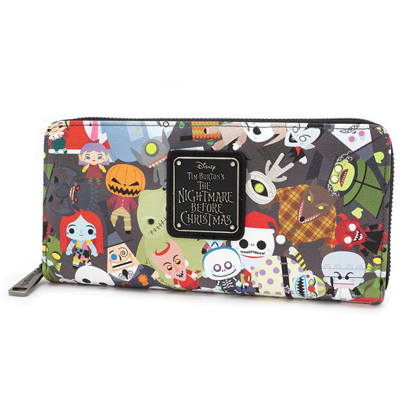 Loungefly Nightmare Before Christmas Chibi Wallet