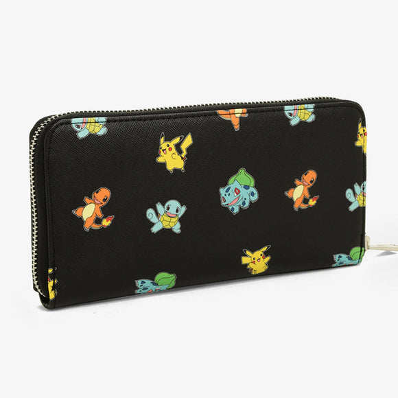 Loungefly Pokemon Starter Black All-Over Print Wallet