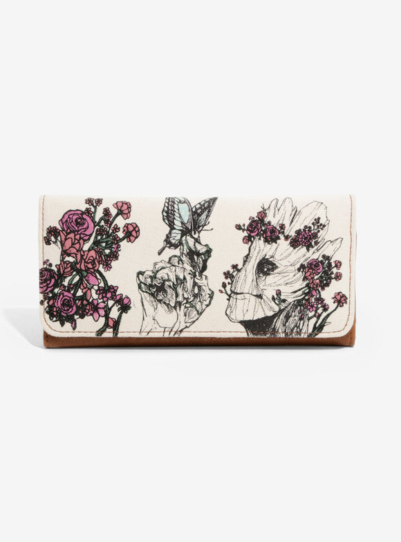 Loungefly Marvel Groot Floral Wallet