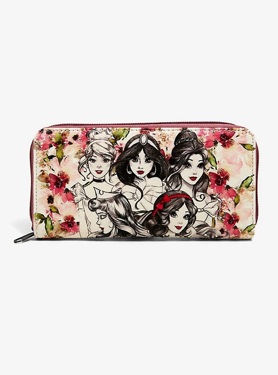 Loungefly Disney Princess Sketch Floral Wallet