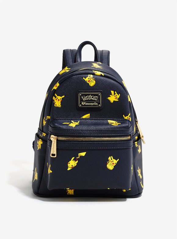 Loungefly Pokemon Pikachu Allover Print Navy Backpack