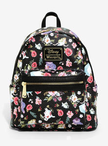 Loungefly Alice In Wonderland Floral Mini Backpack