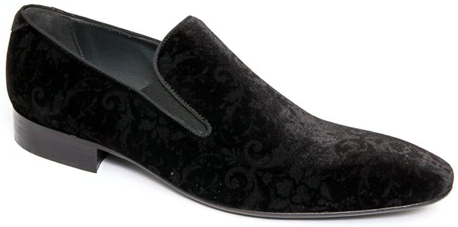 Giovanni Conti 2803-05 Black Velour Loafers