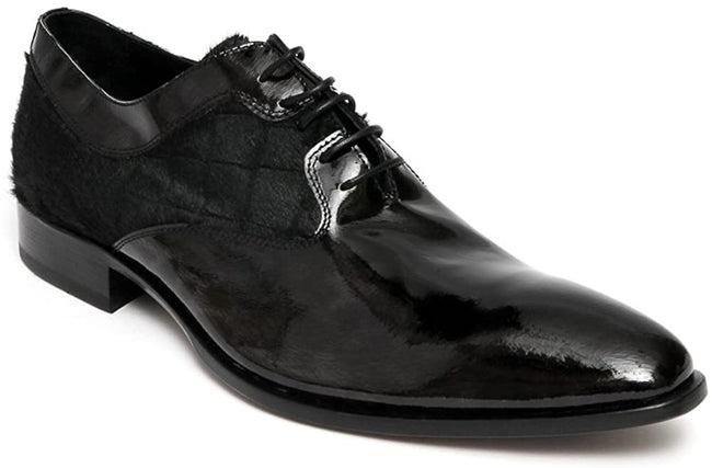 Carlo Ventura 2095 Black Patent Leather Lace Up Shoes