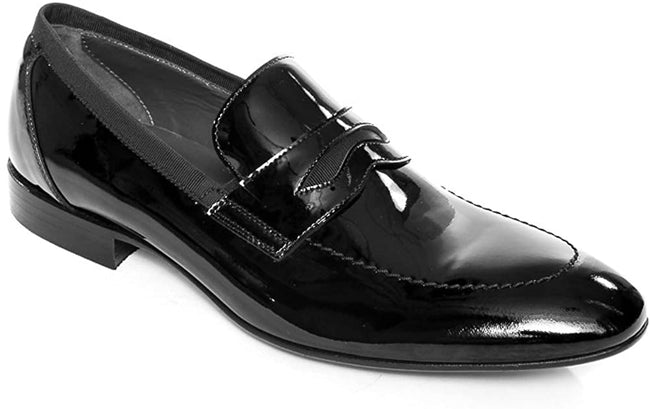 Giovanni Conti 3181-01 Black Ultra Patent Leather Loafers