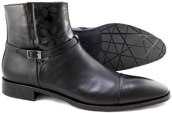 Giovanni Conti 2726 Black Leather Zip Up Boots