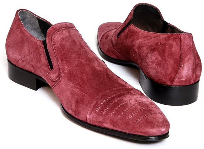 Giovanni Conti 2689 Red Suede Loafers